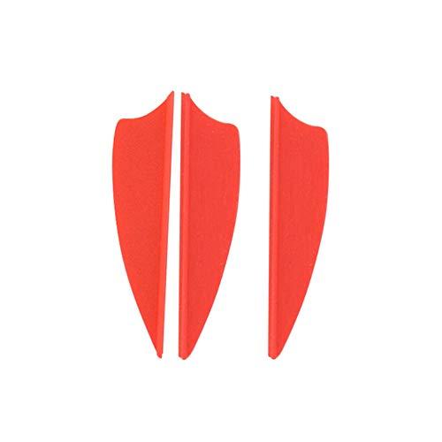 ZSHJG 50 pcs Tiro con Arco de Goma Plumas de Flecha 2.5 Pulgadas 1.75 Pulgadas El Plastico Flecha Plumas Fletches para la Caza DIY Flechas