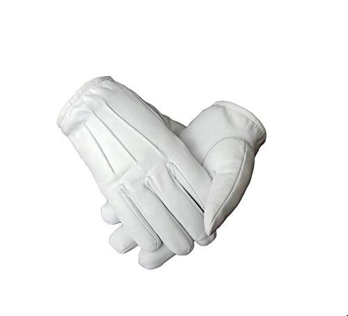 Ergonomic Cut leather driving gloves (Large, White)