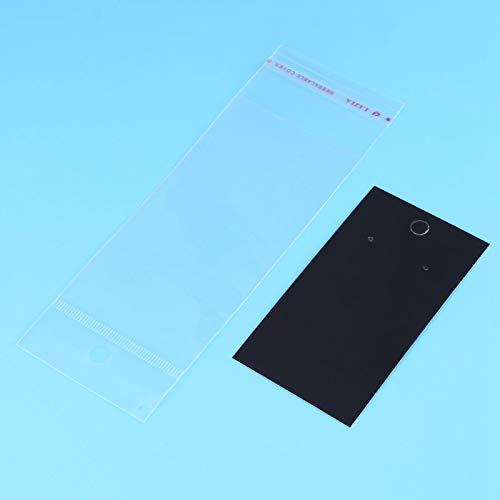 Jeanoko Soporte para pendientes, tarjetas, color negro, para pendientes, pulseras, manualidades, expositor de pendientes.