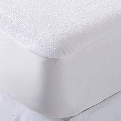 Sasma Home - Waterproof Double Bed Fitted Mattress Protector - Hypoallergenic Terry Towel Double Bed Waterproof Mattress - Anti Dust Anti Mite 100% Protection from Liquid Spillage