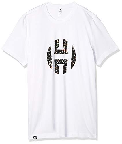 adidas Herren Harden Logo Tee T-Shirt, White, M