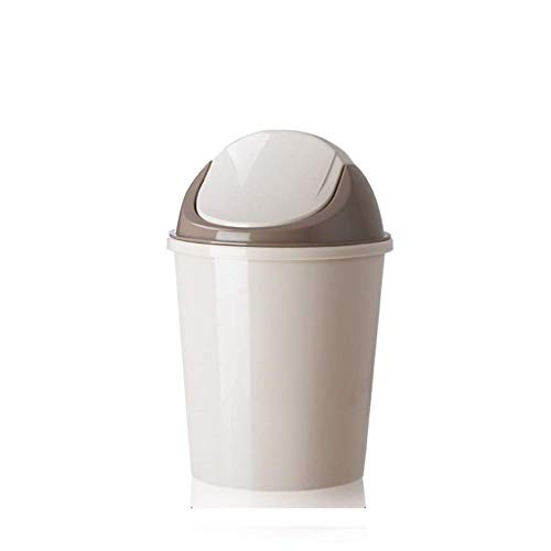 POUYTT Trash Can, Living Room Trash Can Kitchen Trash Can Bedroom Trash Can With Lid Trash Can Plastic Material - Size -22.5x34.5x17.5cm (Color : B)