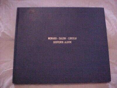 MENARD COUNTY SALEM LINCOLN SOUVENIR ALBUM (1976) ILLINOIS PETERSBURG HISTORY
