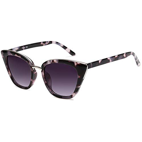 SOJOS Cat Eye Designer Sunglasses Fashion UV400 Protection Glasses SJ2052...