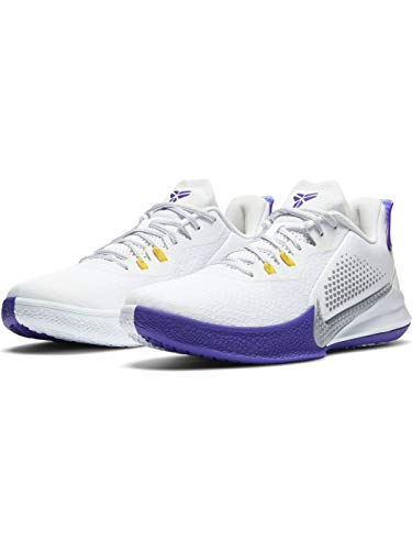 Nike Mamba Fury - White/lt Smoke Grey-Field Purple, Größe:7.5