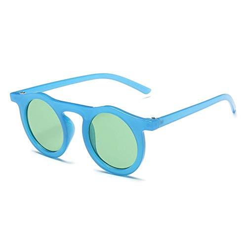 ZZOW Gafas De Sol Redondas Vintage para Hombre, Gafas De Sol con Montura De Color Jalea De Diseñador De Marca, Gafas De Sol De Moda para Mujer, Gafas De Sol Uv400