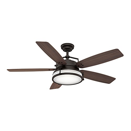Casablanca Indoor Ceiling Fan with LED Light and wall control