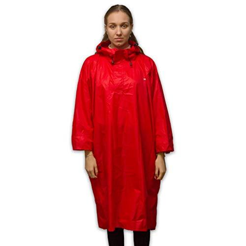 bester der welt Regenponcho LOWLAND OUTDOOR – Wasserdicht (7000 mm H2O), Rot, L. 2020
