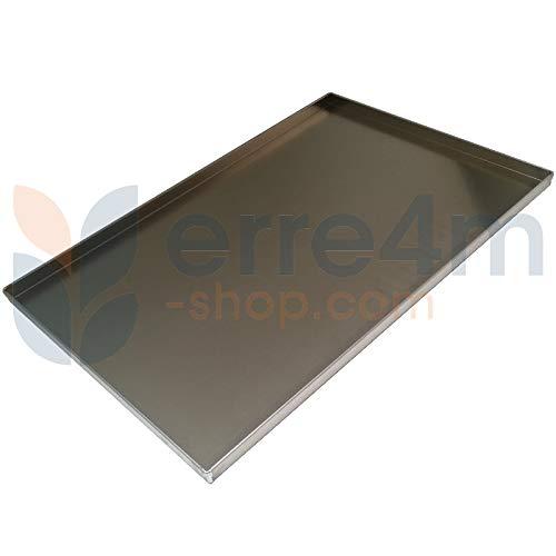 Erre4m - Bandeja de horno de 60 x 40 x 2 cm de altura, de aluminio profesional