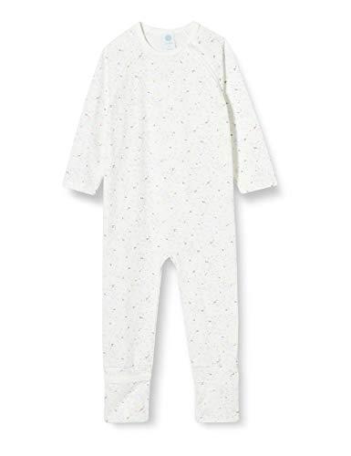 Sanetta Baby-Mädchen Broken GOTS Zertifiziert Overall Off-White, beige, 080
