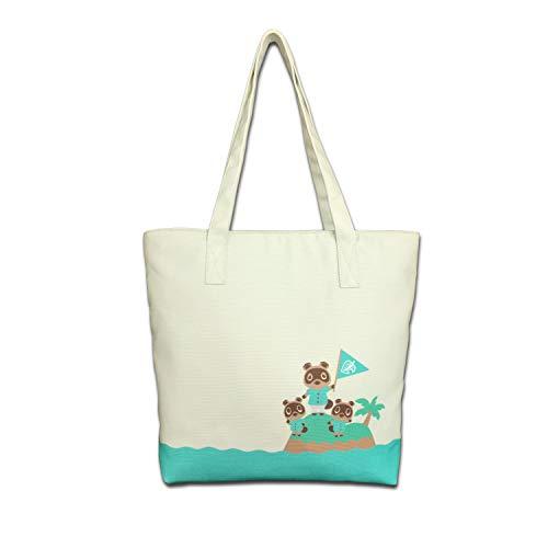 Lamyba Tote Bag Canvas Handtasche für Arbeit Reise Schule Shopping, inspiriert von Animal Crossing New Horizonte, Timmy Tommy Tanuki