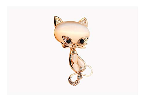 TAO Broschen Broschen niedliche Katze Exquisite Wilde Frau aus Kristall Tier Brosche Seidenschal Schnalle Pin Zubehör