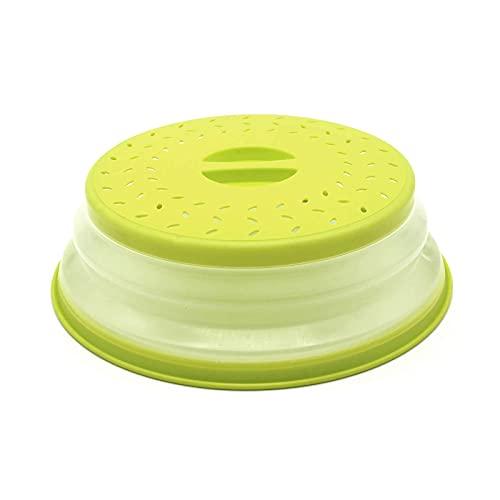 Frutero plegable de silicona Tapa plegable multifuncional para horno microondas Cubierta de microondas a prueba de salpicaduras utiliza en hornos microondas, cestas verduras, cestas de frutas