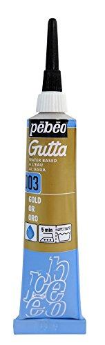 PEBEO Setasilk Silk Painting Water Based Gutta 20-Milliliter Tube, Gold