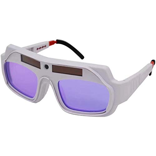 KingbeefLIU Gafas Anti UV Soldadura con Energía Solar Gafas De Soldar Gafas Seguridad Protección Ocular Blanco
