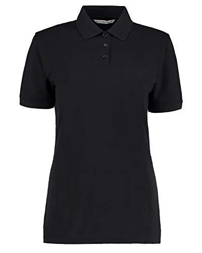 Kustom Kit - Polo - - Manches courtes Femme - Noir - Noir - 44