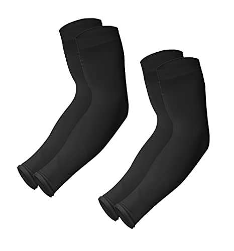UV Sun Protection Compression Arm Sleeves - Tattoo Cover Up - Cooling Athletic Sports Sleeve for Football, Golf & Volleyball