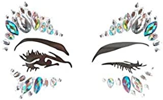 Mermaid Face Gems Glitter Sticker Rhinestone Bindis Crystal Face Jewels Tattoo Forehead Decorations for Women  xbs-10