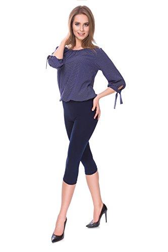 SOFTSAIL Womens 3/4 Katoen Effen Leggings Beveiligd Capri Activewear Gym Yoga Fitness Casual Cropped Broek Maten 8-28 UK