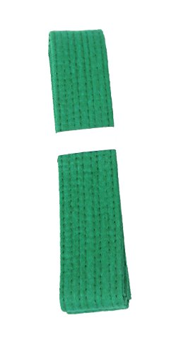 Lisaro kampfsportgürtel Karate Judo Taekwondo Ju Jutsu BJJ Gürtel Gr. 160-300 cm (grün, 280)