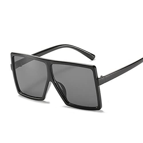Tanxianlu Nuevas Gafas De Sol cuadradas de Gran tamaño, Gafas De Sol de diseñador de Marca para niños, niñas, Moda, Personalidad de Tendencia, Montura Grande, Gafas,a