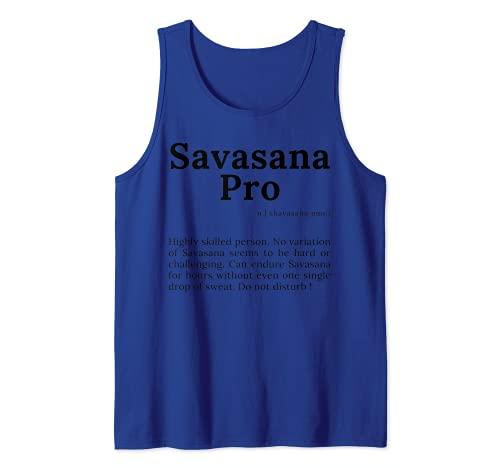 Savasana Definición Motivación Cotización para Mujeres con Refranes Camiseta sin Mangas