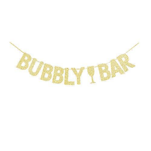 Grace. Z Gold Gliter sprudelnd Bar Zeichen, Champagner Getränke Party Banner/Bridal Dusche Uns Wimpelkette Dekorationen