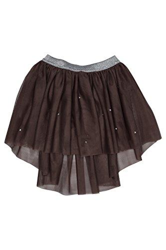 Kate Mack Girls' Moonlight Swan Mocha Tutu Skirt, Sizes 4-12 (12)