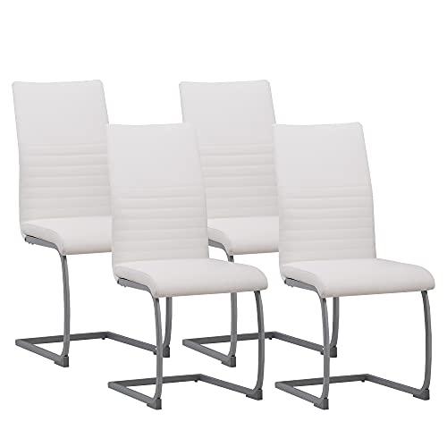 Albatros silla cantilever MURANO Set de 4 sillas Blanco, SGS probado
