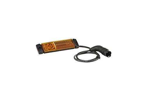 HELLA 2PS 008 645-801 Seitenmarkierungsleuchte - LED - 24V - Lichtscheibenfarbe: gelb - Anbau - Kabel: 520mm - 2-polig - Einbauort: links/rechts