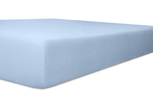 Kneer Edel Zwirn Jersey Hoeslakens tot 22 cm hoog 90x190-100x220 cm lichtblauw