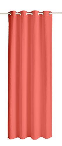 TODAY Cortina Opaca de poliéster con Ojales, 140 x 260 cm, poliéster, Coral, 140x260 cm