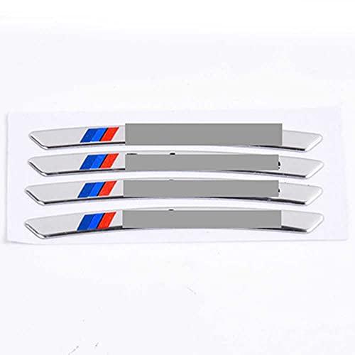 SXHNNYJ Rendimiento Ruedas Llantas Pegatinas de Coche de Carreras, para BMW 5 Series E39 E60 E61 F10 F11 F07 G30 G31 G15 Z4 E89 E85 G29 Z3 E36 M3 M4