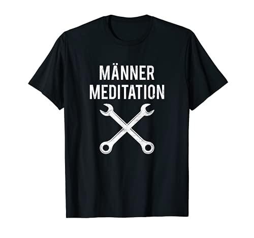 Herren Männer Meditation Garage KFZ Auto Schrauber T-Shirt
