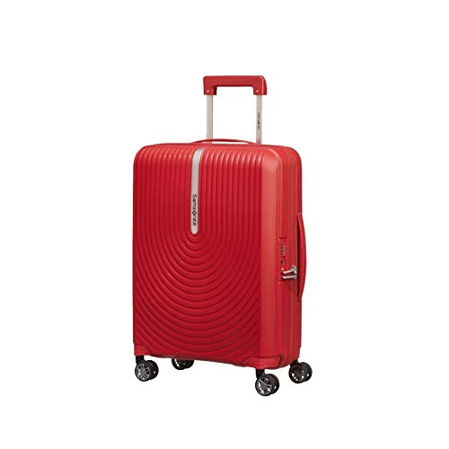 Samsonite Hi-FI Spinner - Maleta de 4 ruedas extensible (55 cm), color rojo