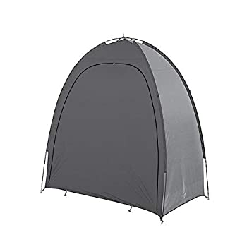Bo-Camp - Abri de vélo -Bike shelter, Mixte Adulte, Gris, 1,8x0,85x1,85 mètres
