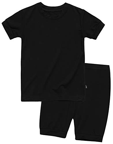 Boys Short Sleepwear Pajamas 2pcs Set Short Colorful Black S