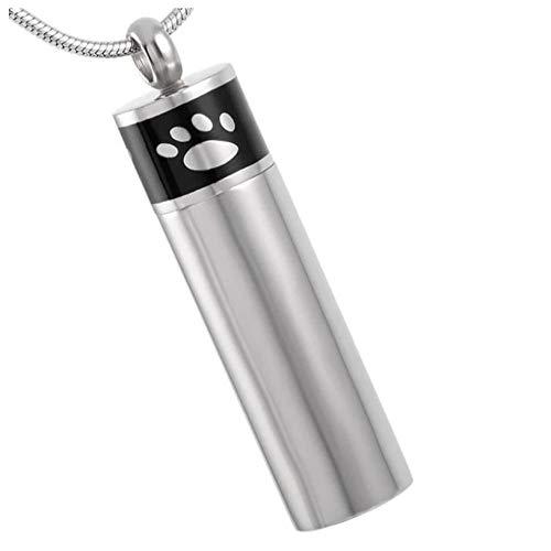 Wxcvz Colgante Conmemorativo Mini Urnas De Cremación para Cenizas De Mascotas Collar De Urna De Cremación De Acero Inoxidable Urna Cilíndrica Cajas Pequeñas Colgante De Cremación