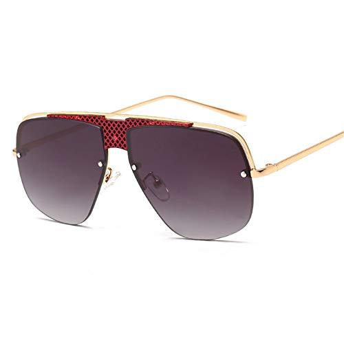 Liuao Las Gafas de Sol Semi-sin Montura de los Hombres de la Marca de Verano de Las Mujeres de los Hombres refrescan la Sombra Gafas de Sol cuadradas de Gran tamaño para el UV400 Masculino