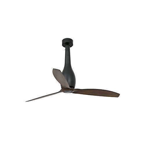 Faro Barcelona 32004WP- ETERFAN Ventilador de techo negro mate/madera con motor DC SMART (Receptor Smart 34150 no incluido)