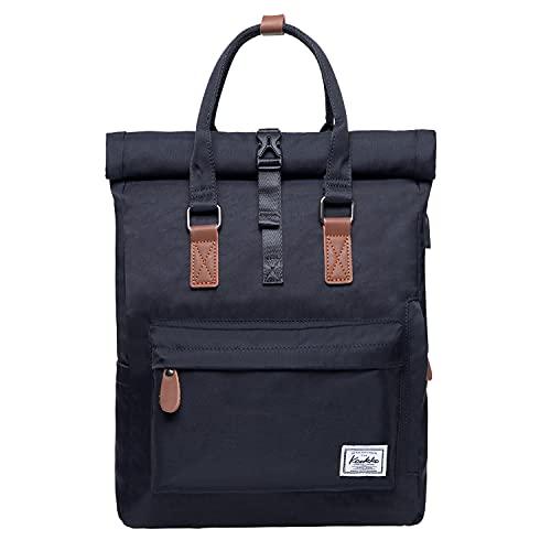 KAUKKO Rucksack Damen Herren Schön und Durchdacht Daypack Handtasche mit Laptopfach für Schul, Ausflüge,Uni,für 12 Zoll Notebook, 28 * 11 * 40cm/ 13L
