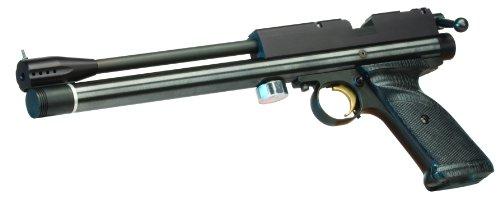 Crosman 1701P Silhouette PCP-Powered Single Shot Bolt Action Match Grade Target Air Pistol , Black