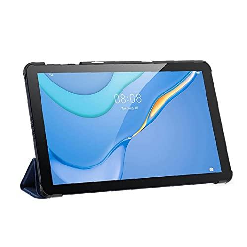 FeelMeet Compatible con el Caso MatePad Huawei Delgado Plegable PU del Soporte de la Cubierta de Piel Compatible con Huawei MatePad T10 / T10S Tableta Blue-