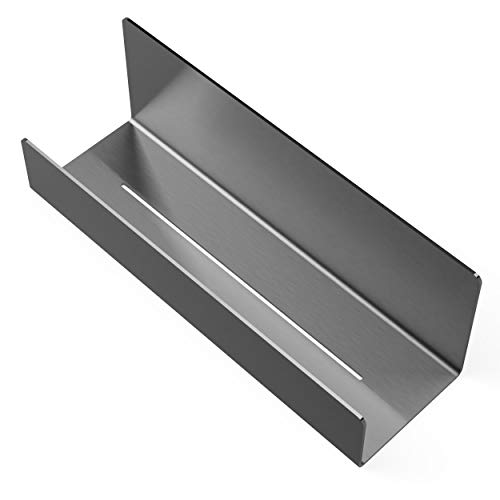 ML Interior Duschablage Model L | Premium Edelstahl | selbstklebend ohne Bohren | Ablage Dusche zum kleben Dusch-Regal matt Rostfrei Bad-Halterung hängend modern Design