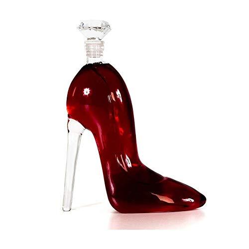 GAOTTINGSD Botellero Whisky Decanter Top-Plomo Copa, Estilete Jarra con Un Envase Hermético Diamante Tapón De La Botella De Vino O Licor, 750Ml