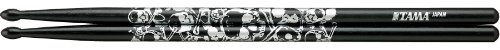 Tama TAMA-O7A-S-BS Skull Pattern Black Trommelstöcke (Paar, Länge 390mm, Durchmesser 13mm)