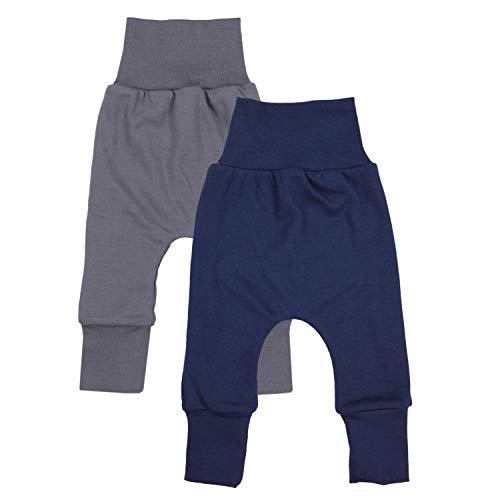TupTam Baby Jungen Mitwachshose 2er Pack, Farbe: Farbenmix 4, Größe: 68-74