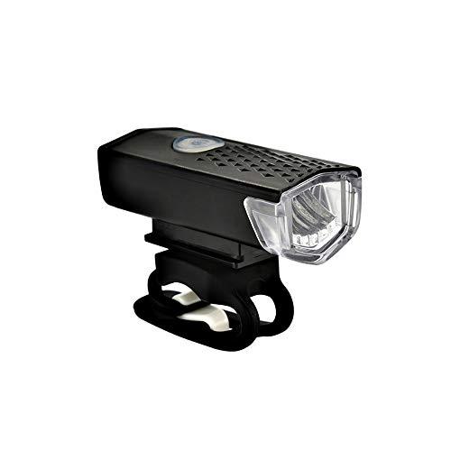 NOLOGO Yg-ct Fahrrad-Licht-USB aufladbare 300 Lumen Fahrradlampe Frontscheinwerfer Taschenlampen-Fahrrad-Licht-Fahrrad-Zubehör (Farbe : Schwarz)