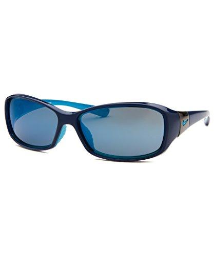 Nike Women's Siren Rectangular Sunglasses, Deep Royal Blue/Neo Turquoise, 58 mm