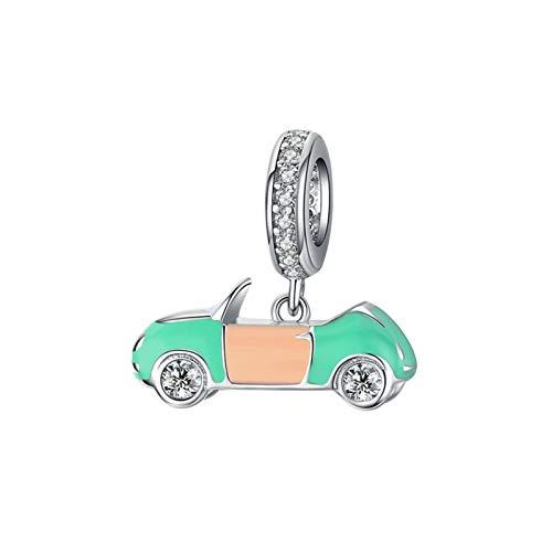 HMMJ S925 Sterling Silber DIY Handgemachte Öl-Tropfen-Canopy Auto Anhänger baumeln Korn for Pandora Troll Chamilia Charm Armband Ketten